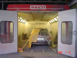 Vehicle polishing cabin